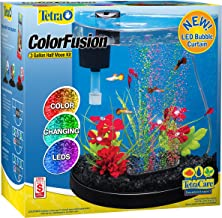 Tetra ColorFusion Starter aquarium Kit 3 Gallons, Half-Moon Shape, With Bubbler And..