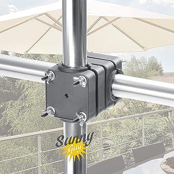 Balkonschirmschirmhalterung F/ür Horizontale Gel/änder starte Sonnenschirmhalter F/ür Balkongel/änder//Handlauf Sehr Robuster Sonnenschirmhalter