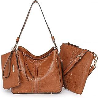 Sponsored Ad - Montana West Tote Handbags for Women Handgun Concealed Carry Purses Leather Hobo Shoulder Bag 3pcs Purse Set