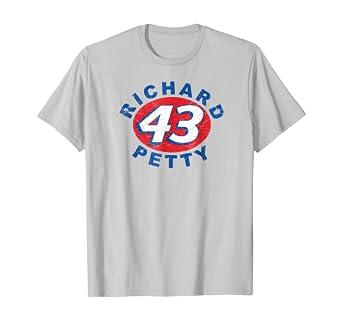 Amazon Com Mens Richard Petty Vintage Oval T Shirt Silver Clothing