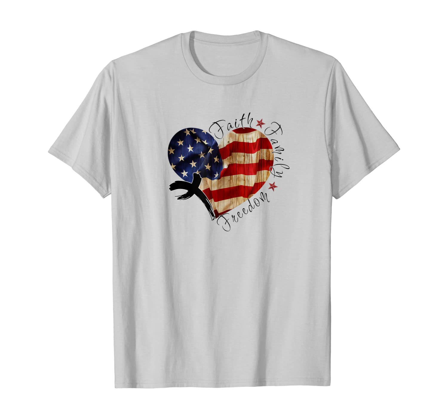 Faith Family Freedom – Love Jesus Love America T-Shirt