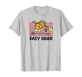 Amazon Com Garfield Vintage Easy Rider T Shirt Clothing