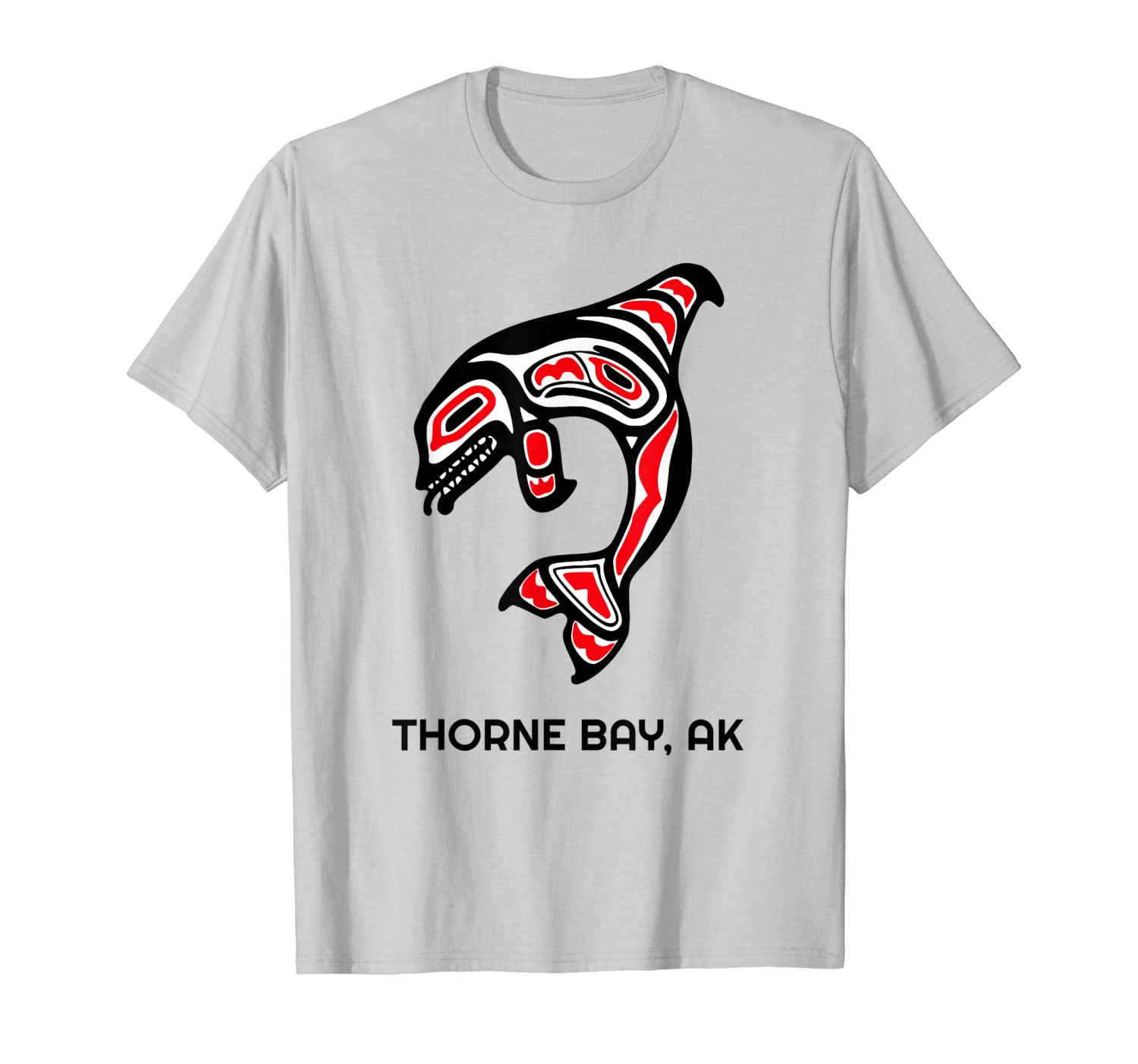 Thorne Bay, Alaska Native American Indian Orca Killer Whales T-Shirt