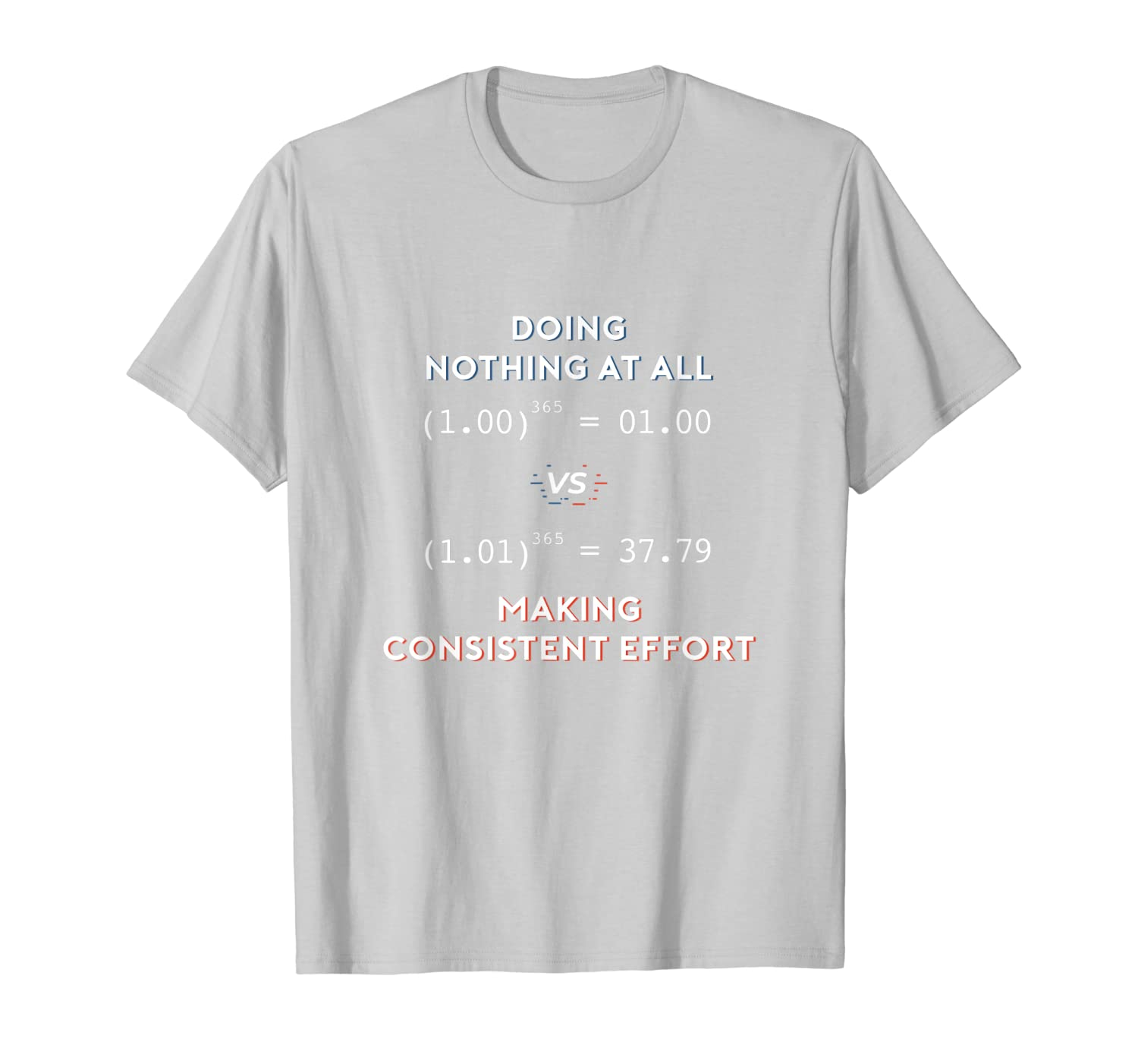 Doing Nothing Vs Consistent Effort Sarcastic Math Teacher T-Shirt