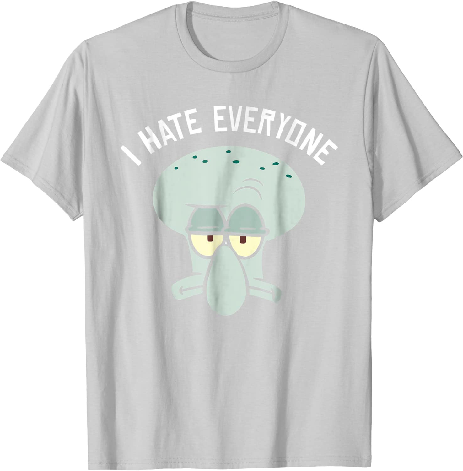 Squidward I Hate Everyone T-Shirt Vintage Gift For Men Women Funny Black Tee