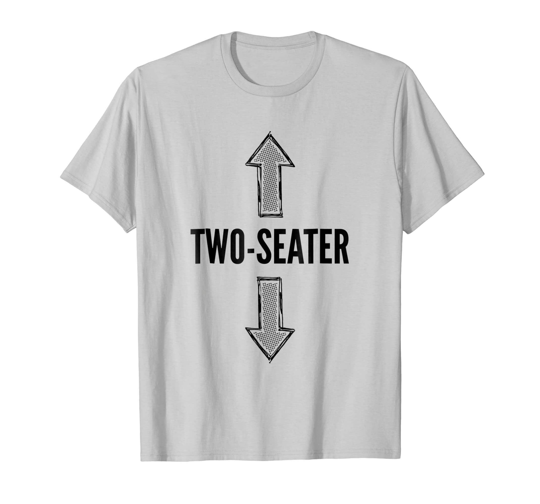 Mens Two Seater T Shirt | Funny Bachelor Party Drinking Tee-Teesml