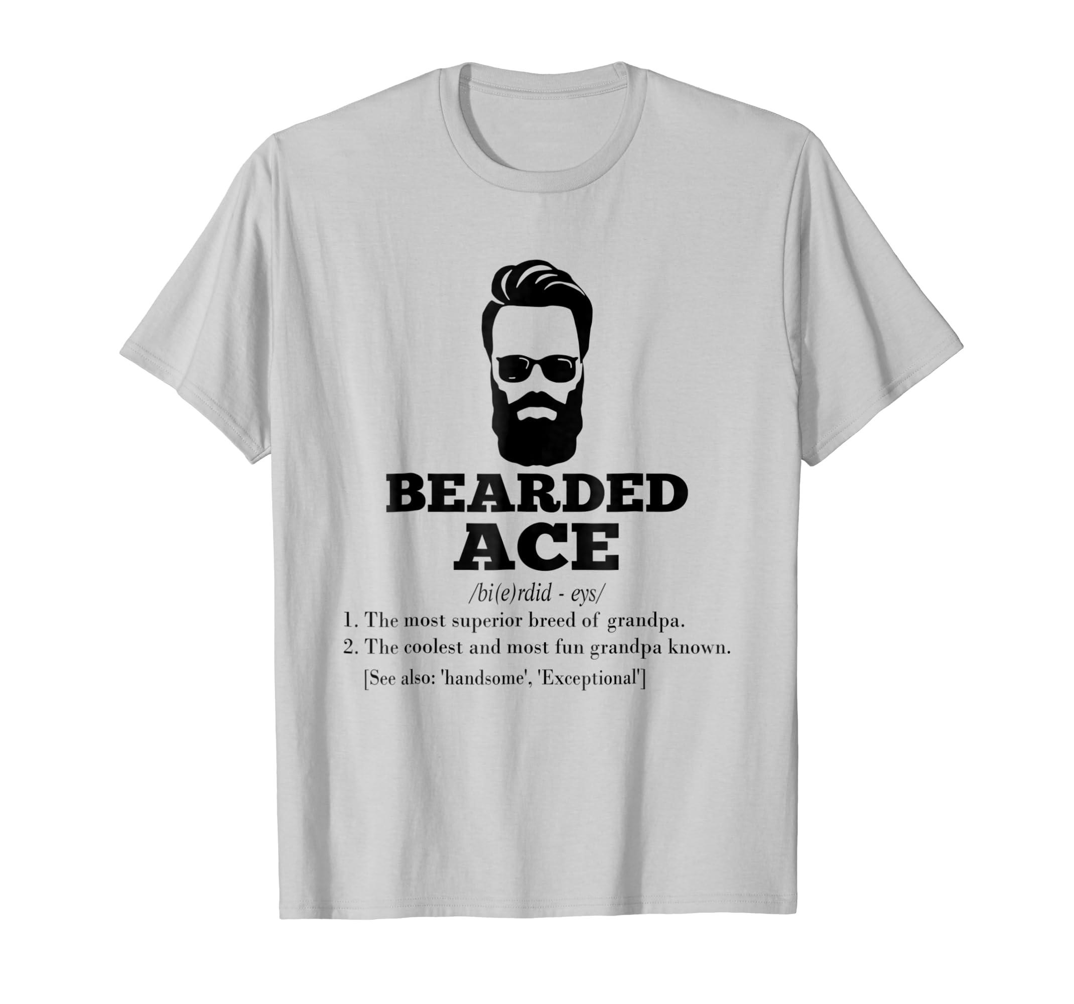 bbfb407309 Amazon.com  Mens Bearded ACE Tshirt  Clothing