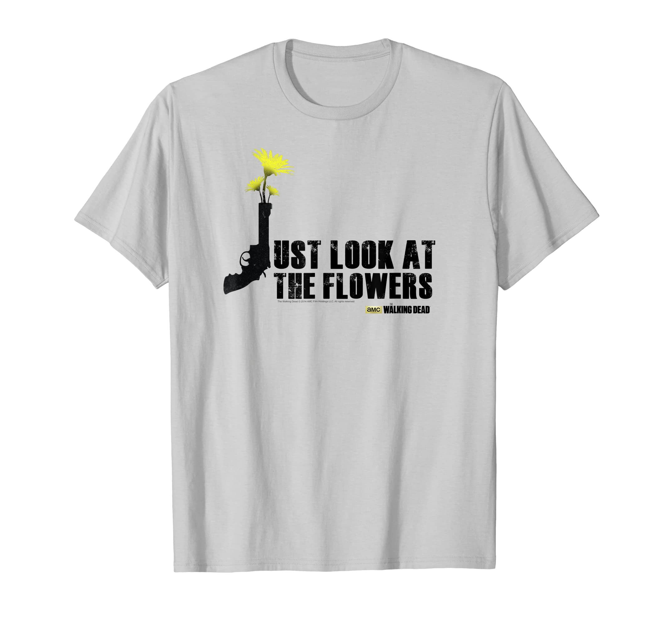 bf6a0f95e Amazon.com: The Walking Dead Just Look At The Flowers T-Shirt: Clothing
