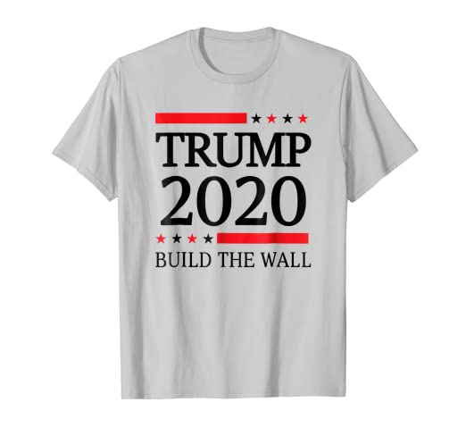 c7239d50108 Image Unavailable. Image not available for. Color  Build the Wall Donald  Trump 2020 T-Shirt