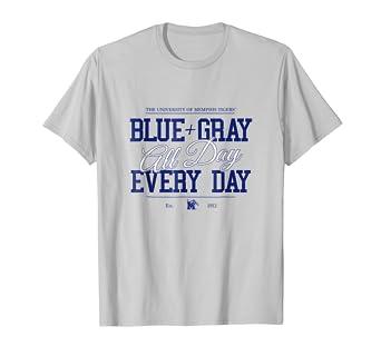 c682dfefa Amazon.com  Memphis Tigers Blue+Gray All Day T-Shirt - Apparel  Clothing