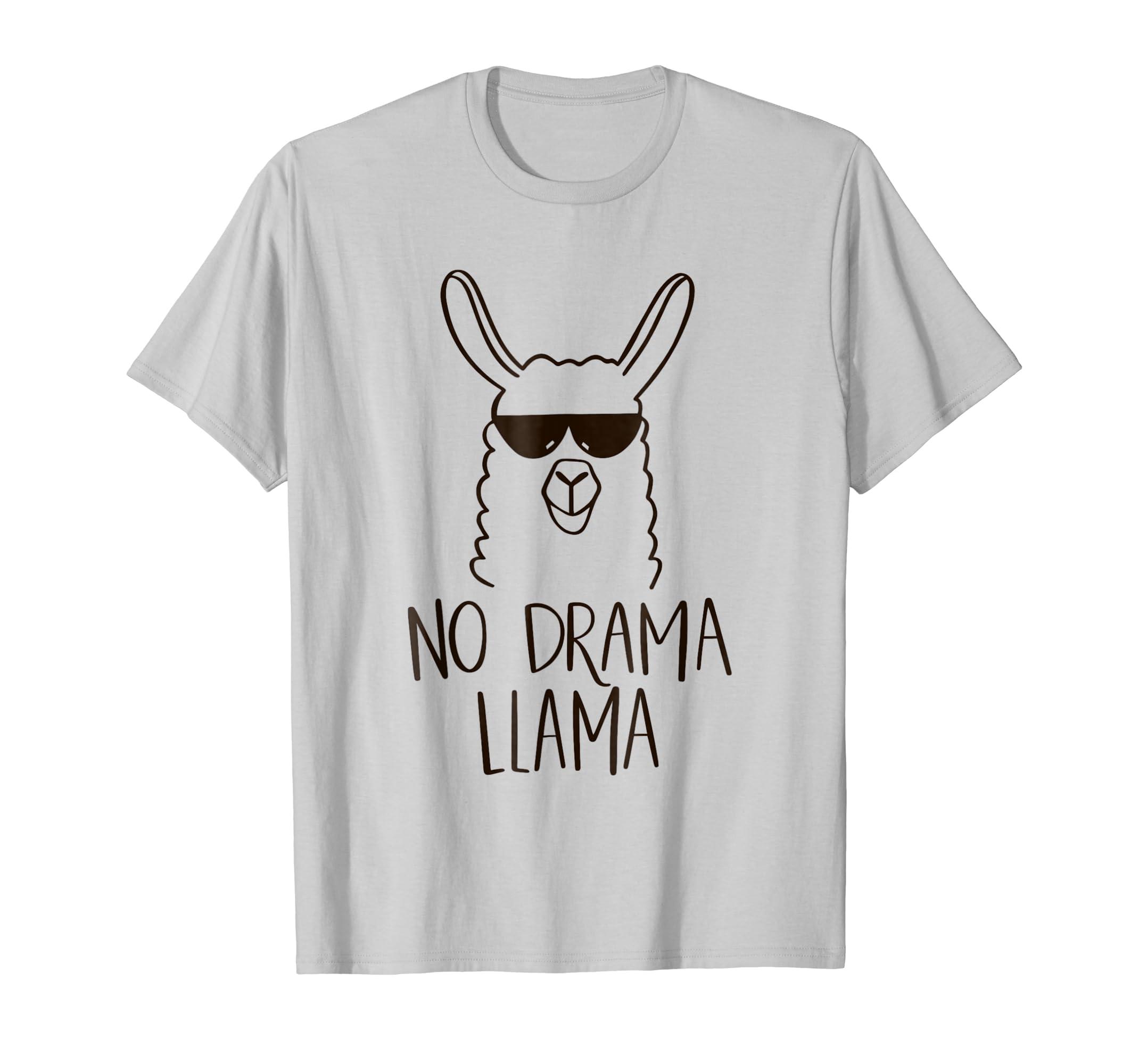 70976e481 ... com no drama llama t shirt funny animal tshirt mama tee ...