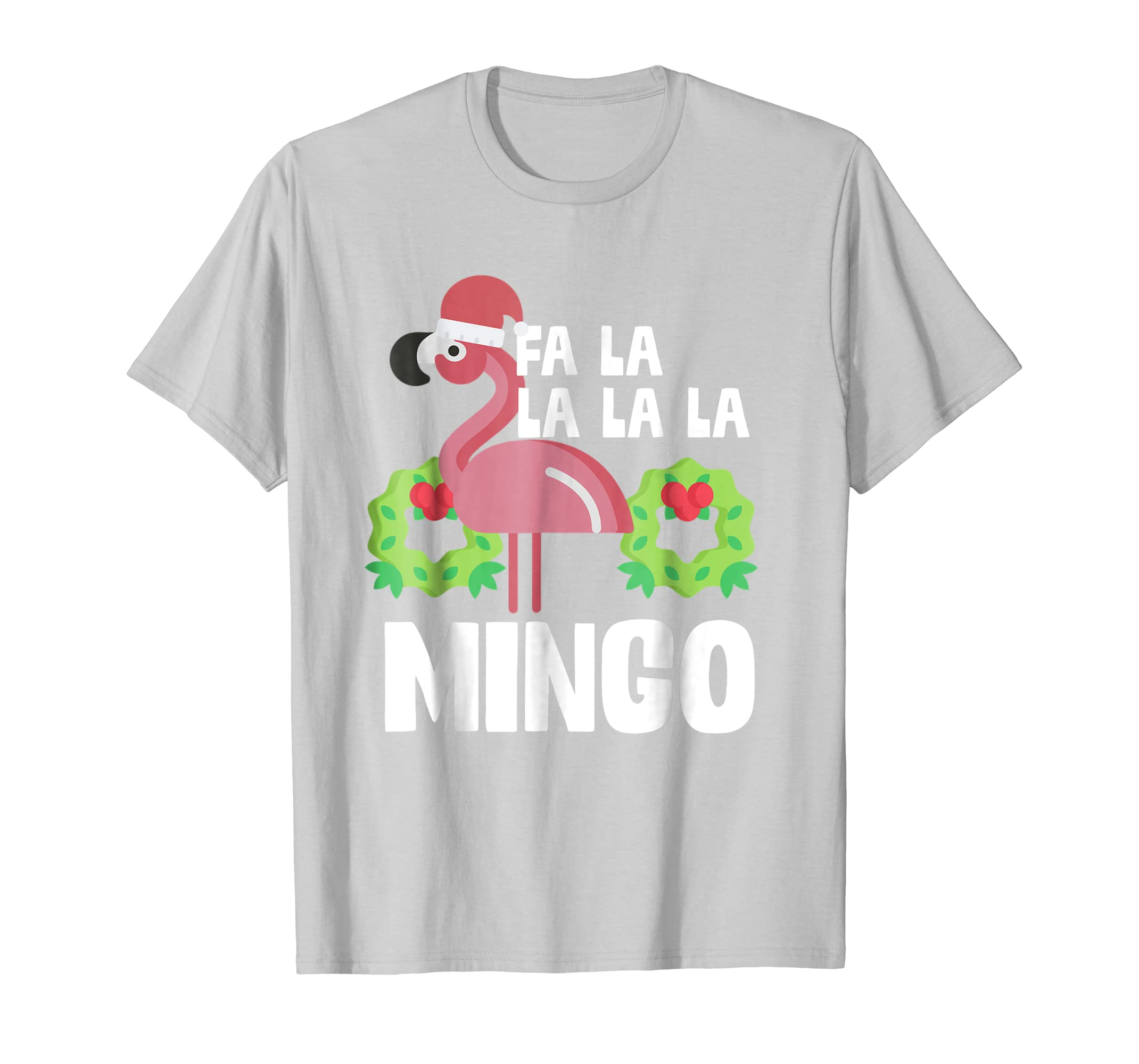 993ae769d Amazon.com: Fa La La Mingo Santa Christmas Flamingo Shirt: Clothing