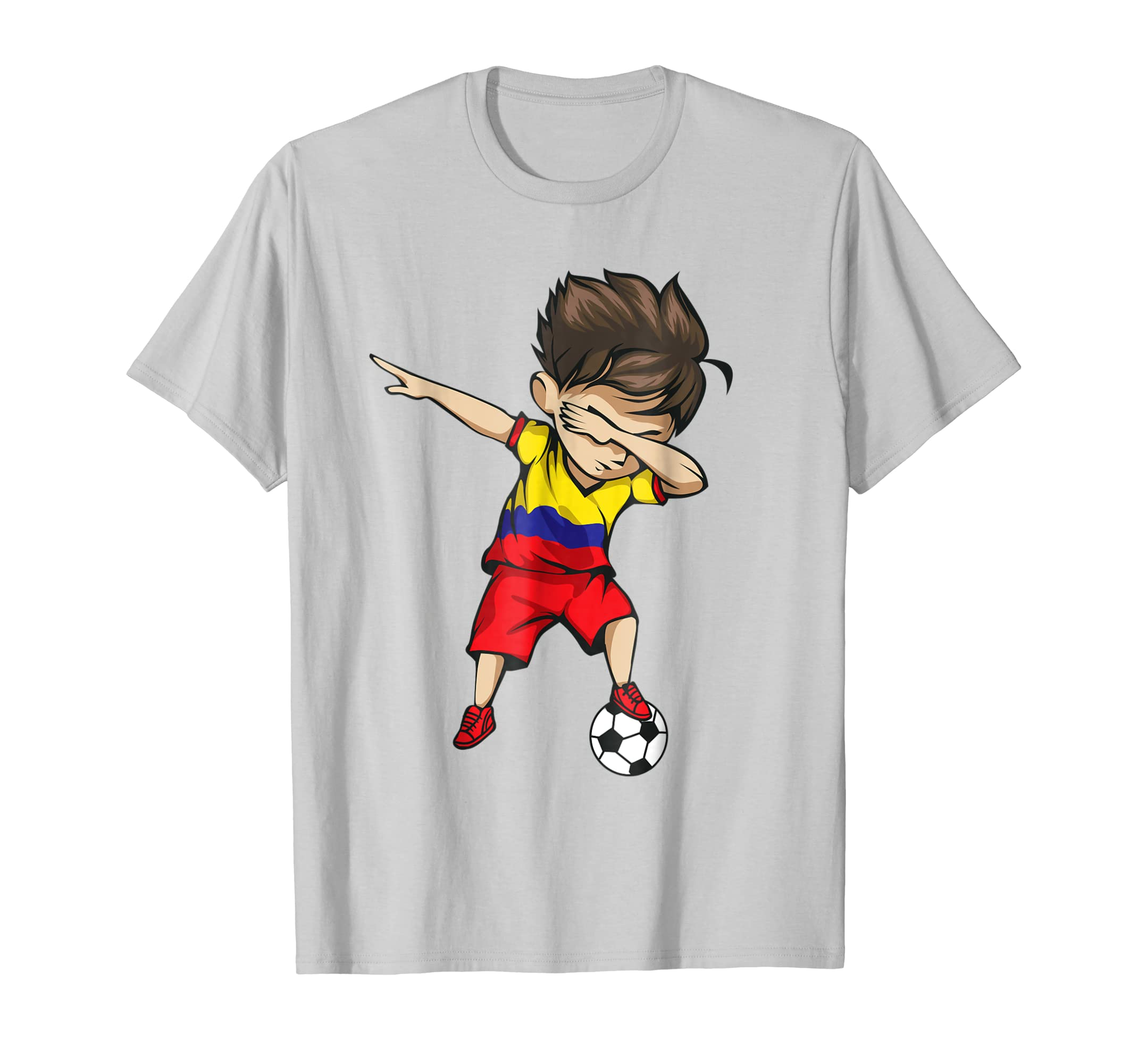 676b8e3d388 ... Dabbing Soccer Boy Colombia Jersey Shirt Colombian Football-prm ...