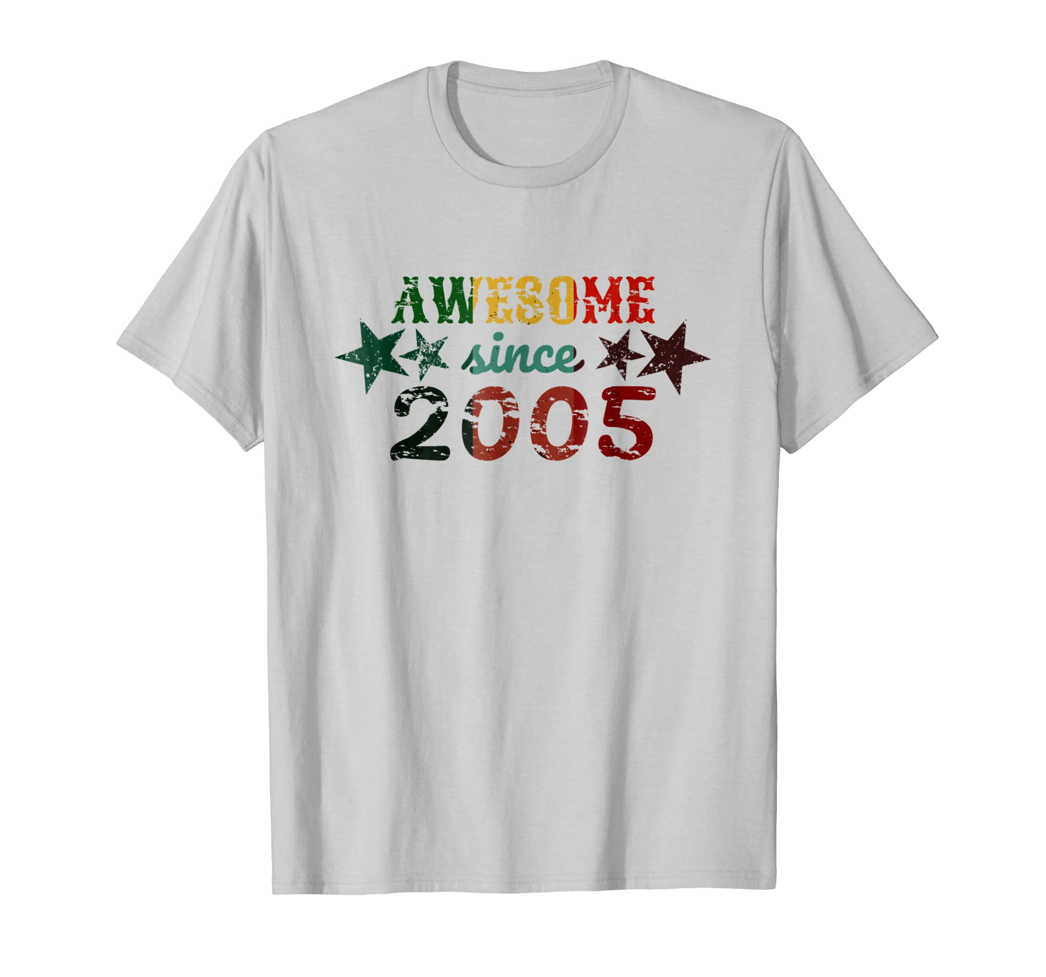 Amazon Awesome Since 2005 13 Year Old Birthday Present Shirt Clothing