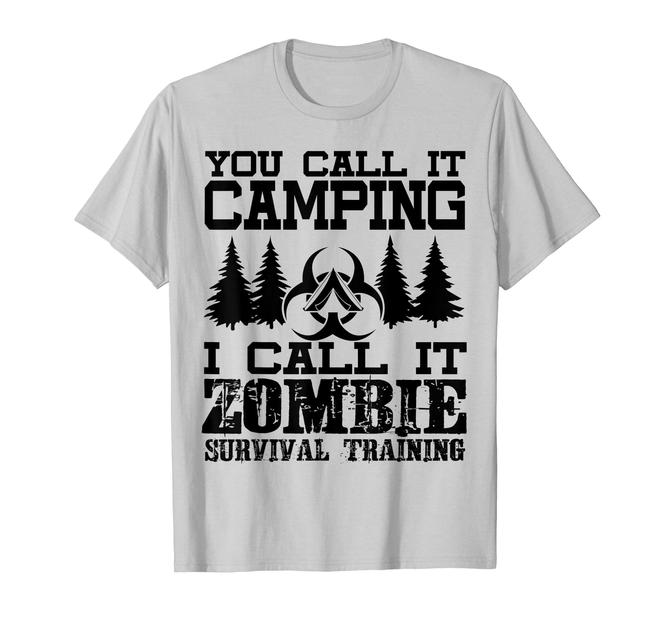 5b94ac2d Zombie Survival Training Camping T Shirt Halloween Shirt-azvn – Anzvntee