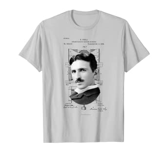 4a86ba264c81 Amazon.com: Nikola Tesla Photo Patent Tshirt: Clothing