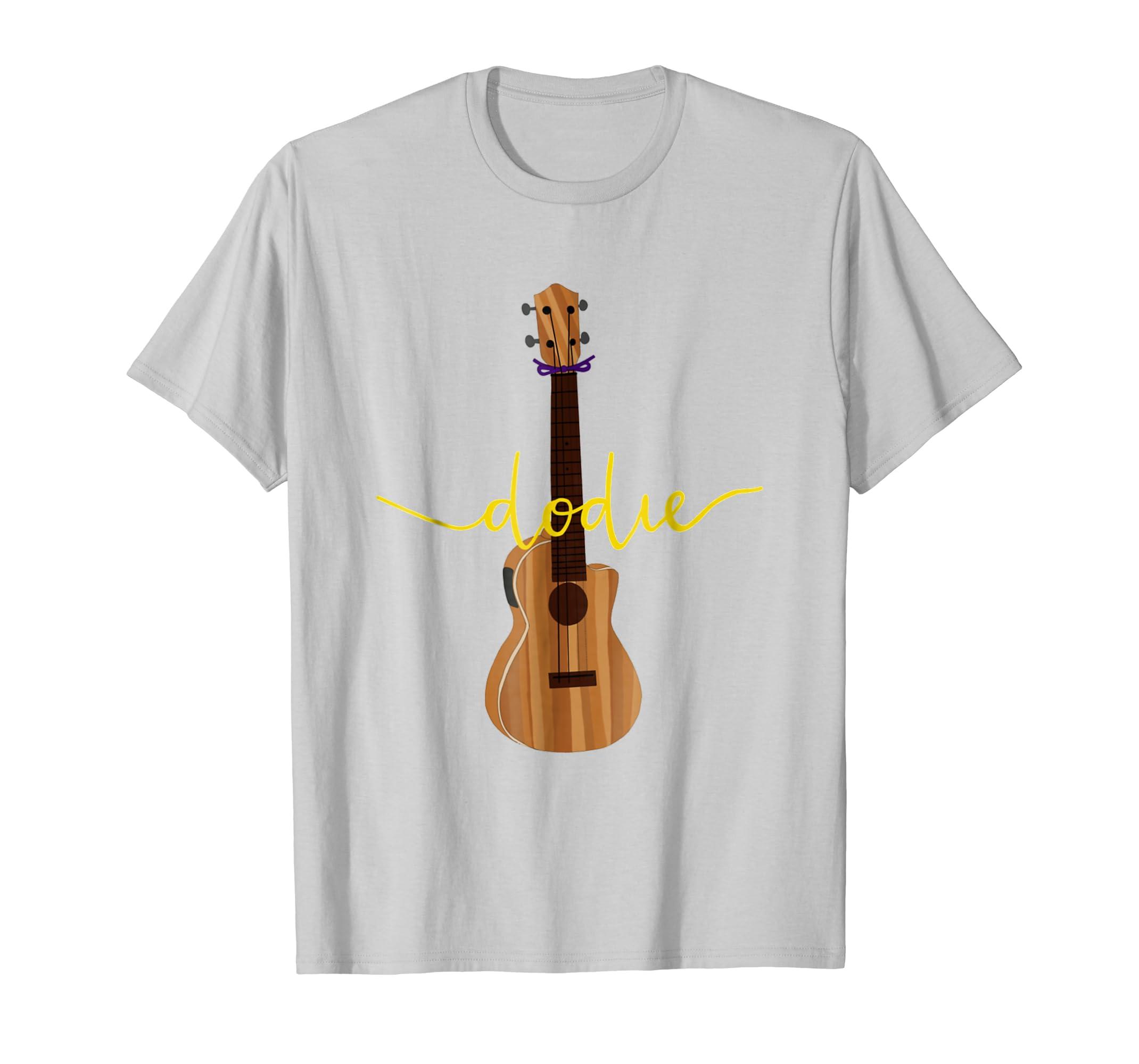 ad9cafd7 Amazon.com: Dodie Ukulele T Shirt with Dodie Logo: Clothing