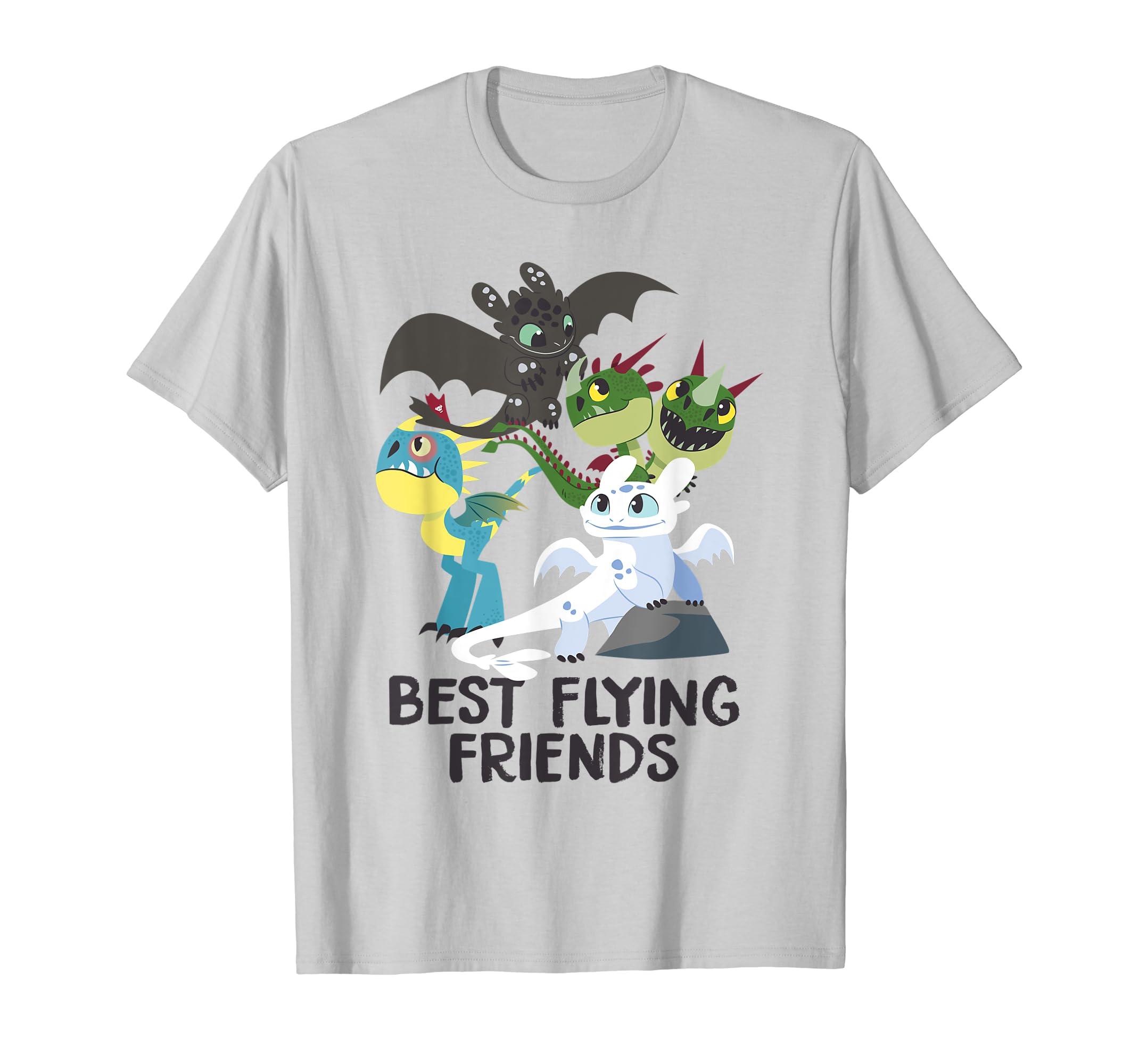 cb9611b3 Amazon.com: DreamWorks How To Train Your Dragon 3 Best Friends T-shirt:  Clothing