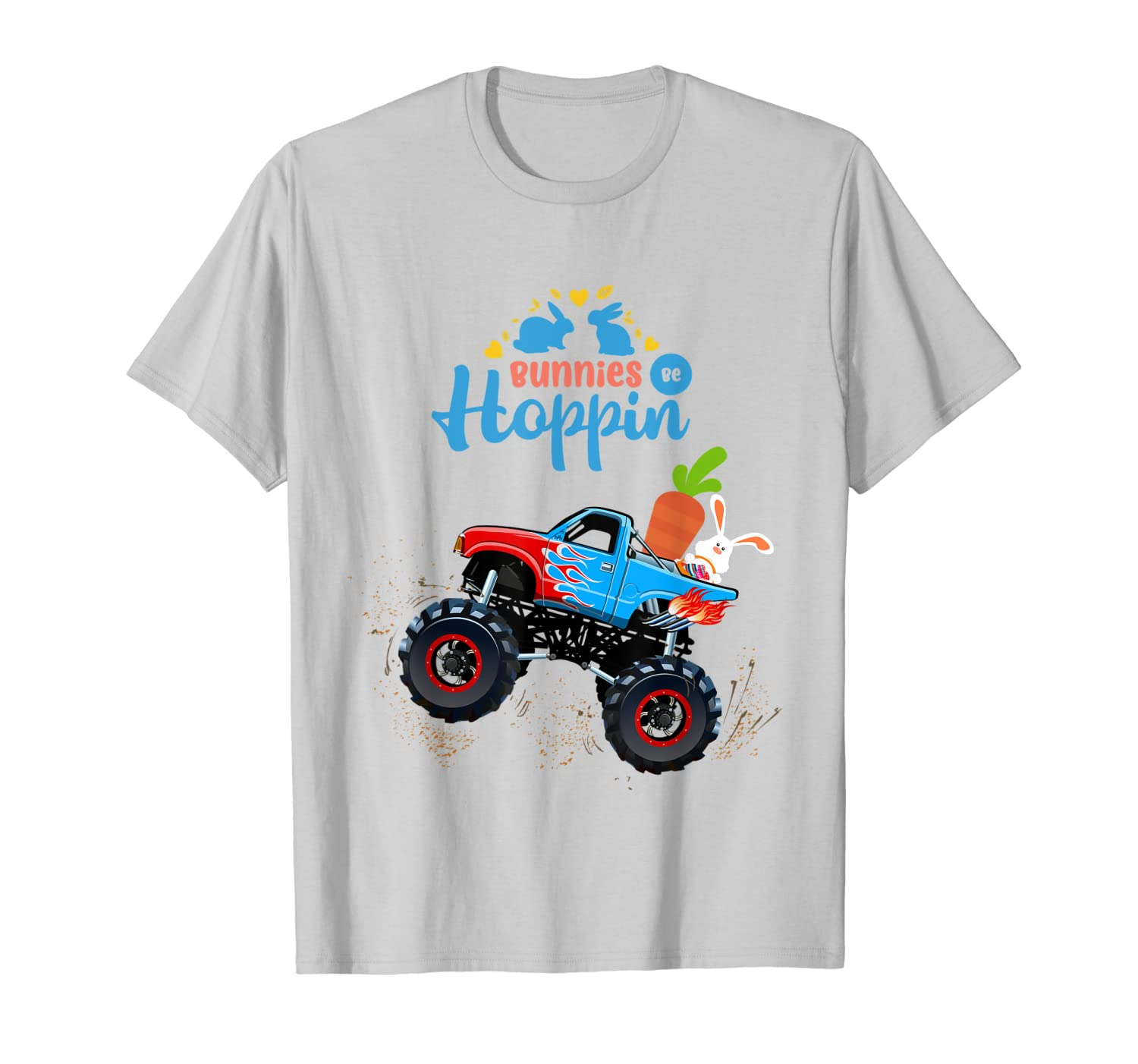 Easter Bunny Rabbit Monster Truck Shirt Toddler Boy Girl Kid-ANZ