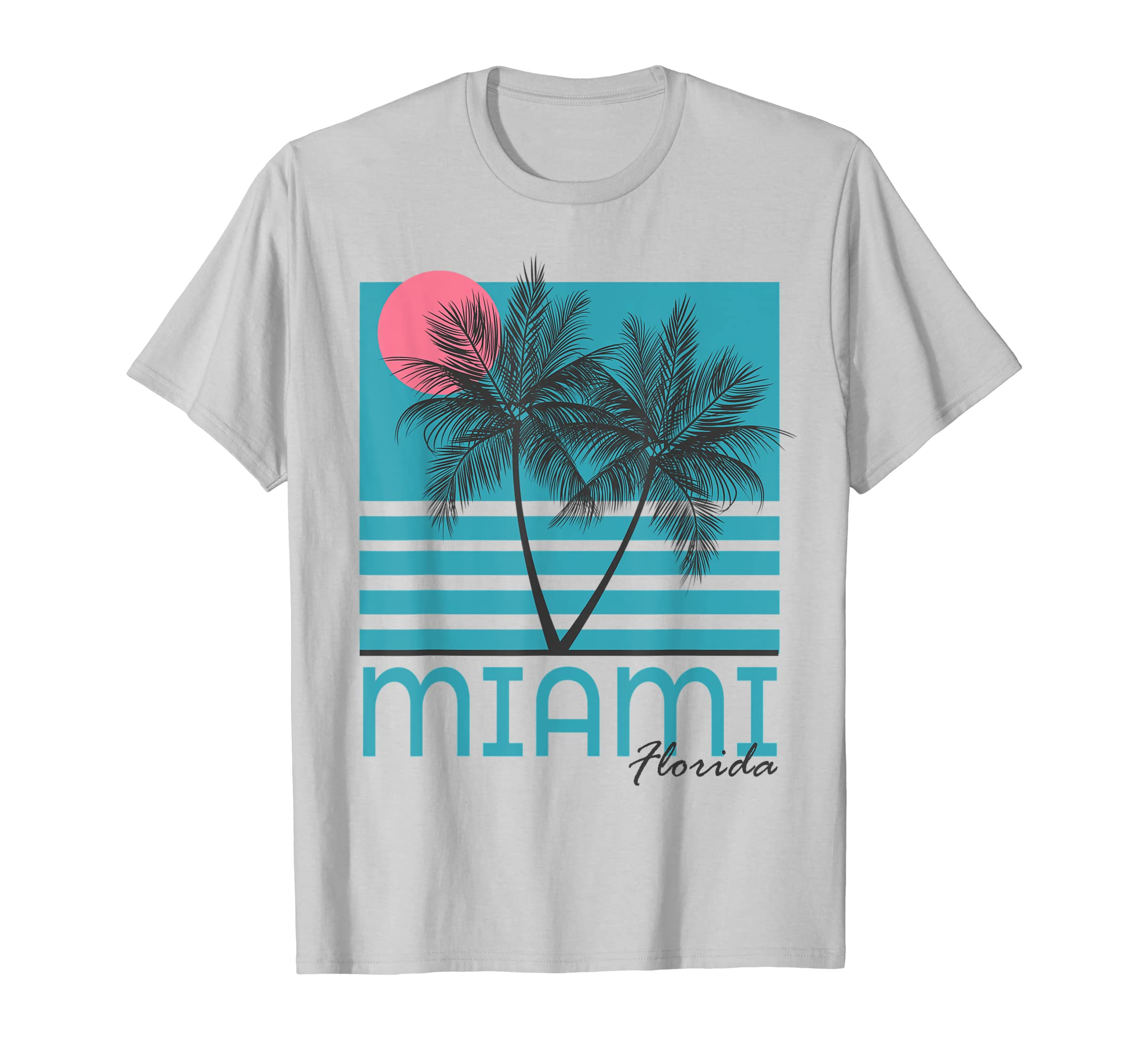 93d061002867fe Amazon.com  Miami Beach Florida T Shirt Palm Trees Souvenirs  Clothing