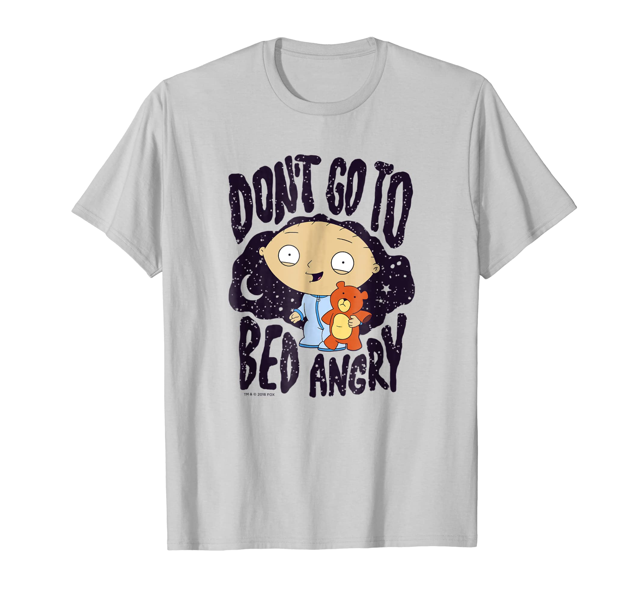 d3dfc4108d424 Amazon.com: Family Guy Stewie Go To Bed Angry T Shirt: Clothing