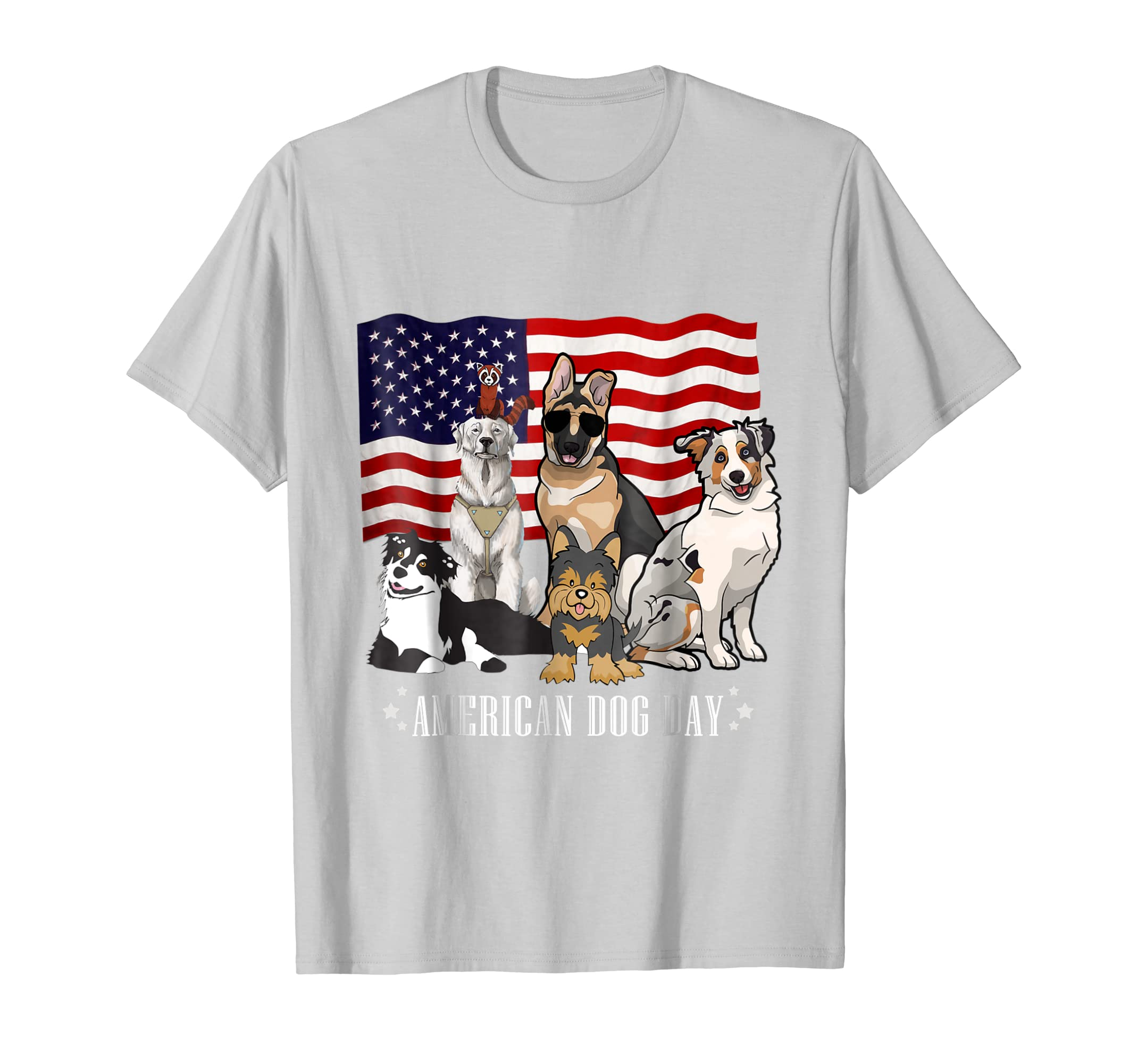 National Dog Day T-Shirt All Dog Breeds-AZP