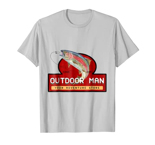 bd1382ed7 Amazon.com: Outdoor Man Your Adventure Store Shirt Fishing Lovers Tee:  Clothing