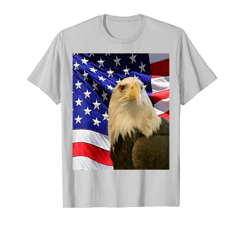 3110d750 Amazon.com: American Bald Eagle Flag Shirt, Patriotic Flag Shirt, MbASSP:  Clothing