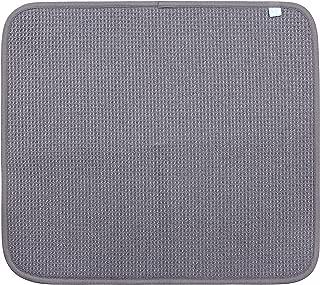 Dri Microfiber Dish Drying Mat,Large (16 in. x 18 in), Gray 2Pk
