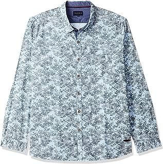 CHEROKEE Men's Printed Regular fit Casual Shirt (400017914152_Blue S)