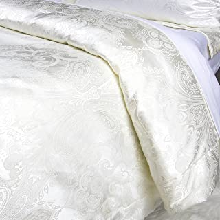 Luxurious Duvet Cover Sets Cotton Rich Silky Woven Jacquard Breathable Stain and Fade Resistant Memories of Italy (Sienna, King)