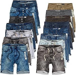 3bb17e769ef39 Sublevel Homme Jogg Shorts en Jeans Bermudas Denim Pantalon de survêtement  Cargo JoggJeans Vintage Pantalon Cargo