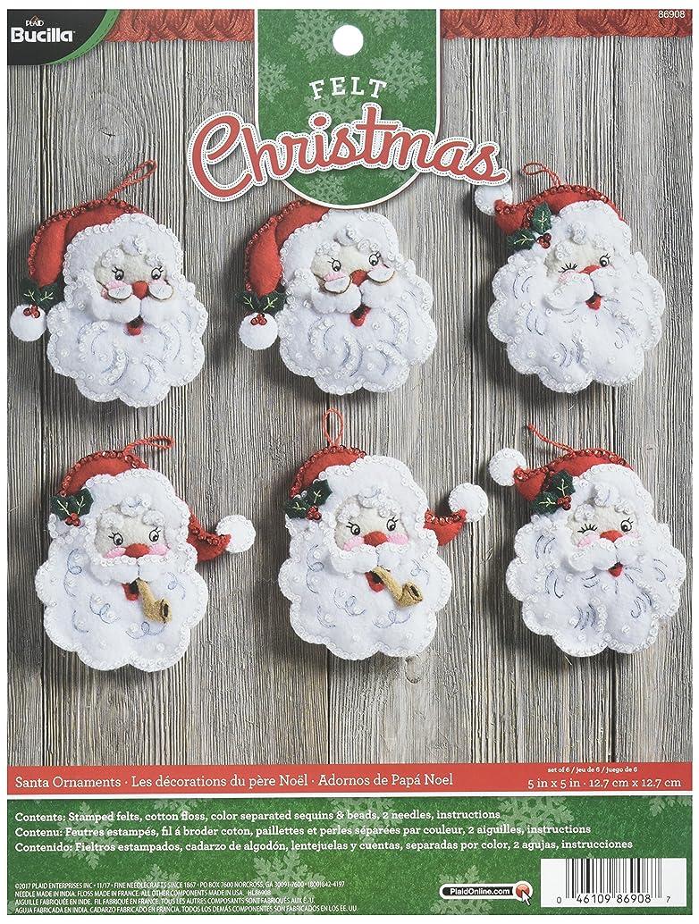Bucilla 86908 Felt Ornament Kit, 5
