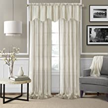 "Elrene Home Fashions 026865876154 Rod Pocket Sheer Window Curtain Drape Panel, Set of 2, 52"" X 84"", Ivory"