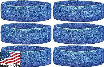 أطواق رأس فريدة من نوعها لفريق الرياضة (عبوة من 6)، باللون الأزرق