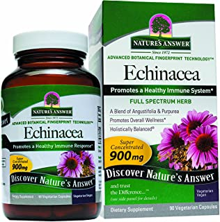 Nature's Answer Echinacea Root Vegetarian Capsules, 90-Count