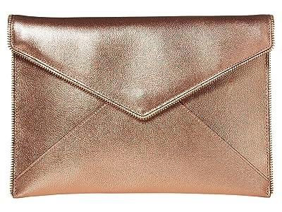 Rebecca Minkoff Leo Clutch (Rose Gold) Clutch Handbags
