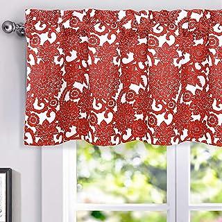 Red Floral Print Swag /& Cascades Valance Dollhouse Curtains