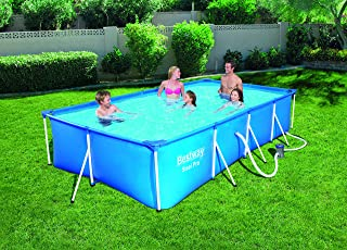 Bestway Steel Pro Inflatable Squared Swimming Pool, 56424