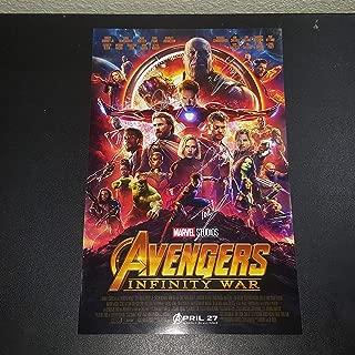 Avengers Infinity War - 4x Autographed Signed 11x17 inch Photograph - Josh Brolin - Robert Downey Jr. - Chris Hemsworth - Tom Holland