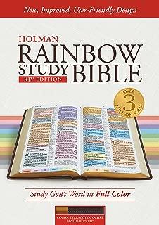 KJV Rainbow Study Bible, Cocoa/Terra Cotta/Ochre LeatherTouch, Indexed