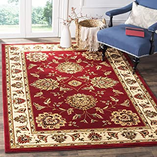 Safavieh Lyndhurst Collection LNH555-4012 Traditional Oriental Red and Ivory Area Rug (8' x 11')
