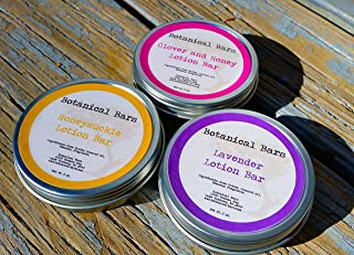 Floral Lotion Bar Set - 3 Lotion Bars 2oz Each - Lavender, Honeysuckle, and Clover and Honey