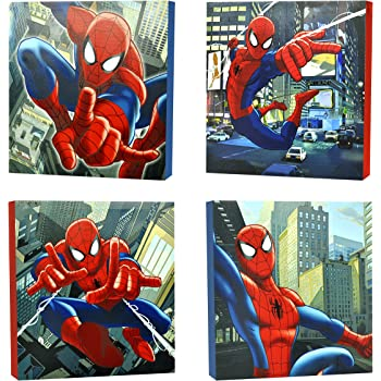 Robot LED Light Up Children/'s Canvas Wall Art Picture Brand New