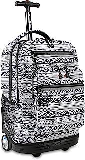 J World New York Sundance LAPTOP Rolling Backpack for...