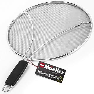 """Mueller Grease Splatter Screen for Frying Pan 13"""", Ultra Fine Mesh Prevents 99% of Splatter Messes, Splatter Guard Shield ..."""
