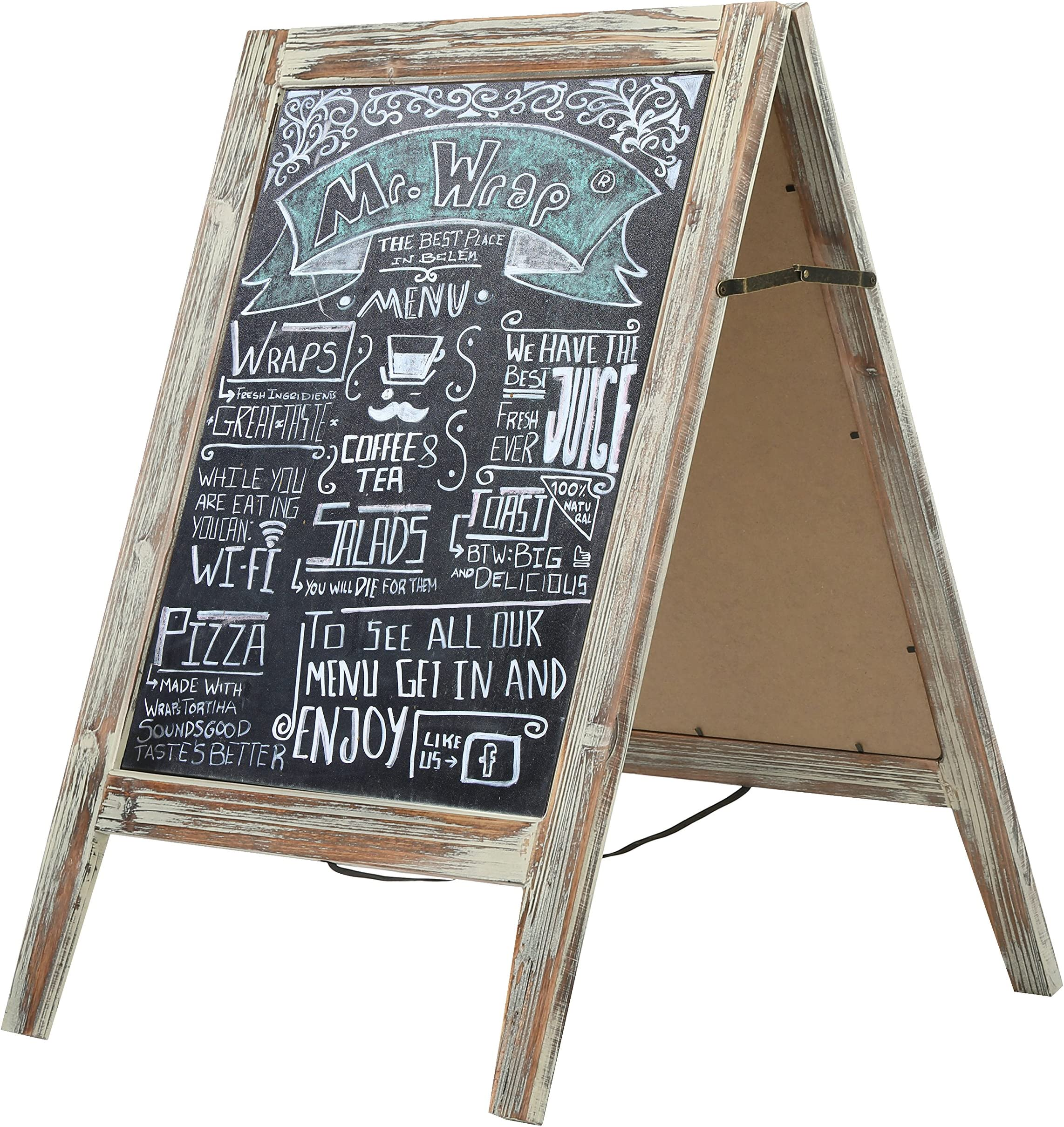 Easel Chalkboard sign Double Sided Sandwich Personalized A-frame Chalkboard Event Sign Business Sign Restaurant Sign Sidewalk Sign