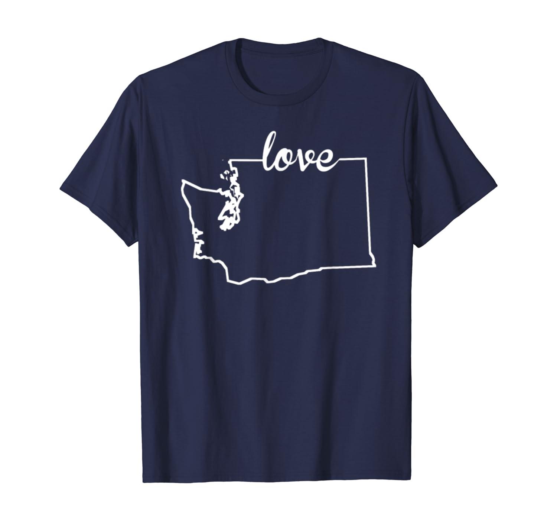 Washington State Home T-shirt I Love Evergreen State Seattle