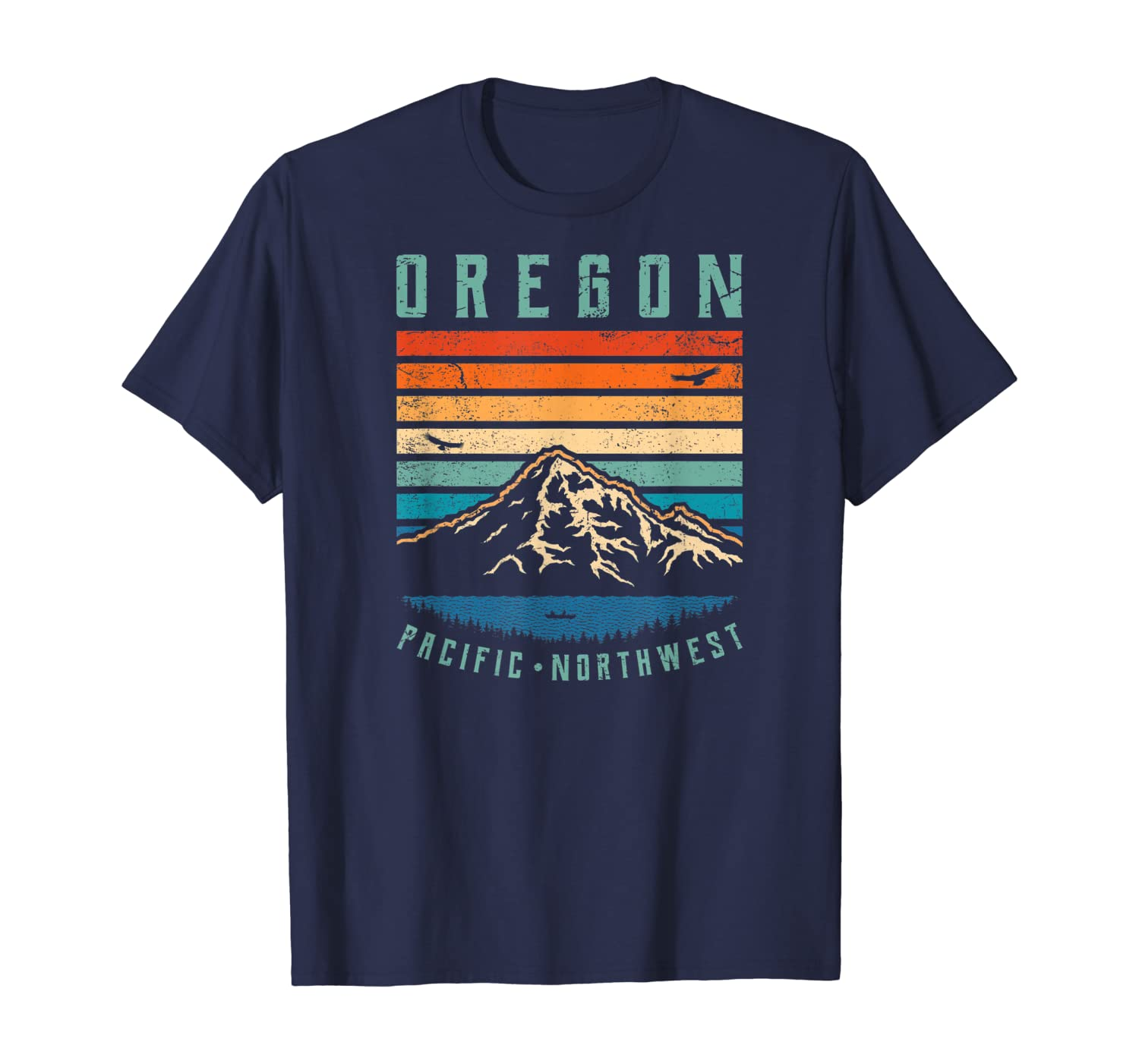Oregon Retro T Shirt | Vintage Portland Home State Mountains T-Shirt