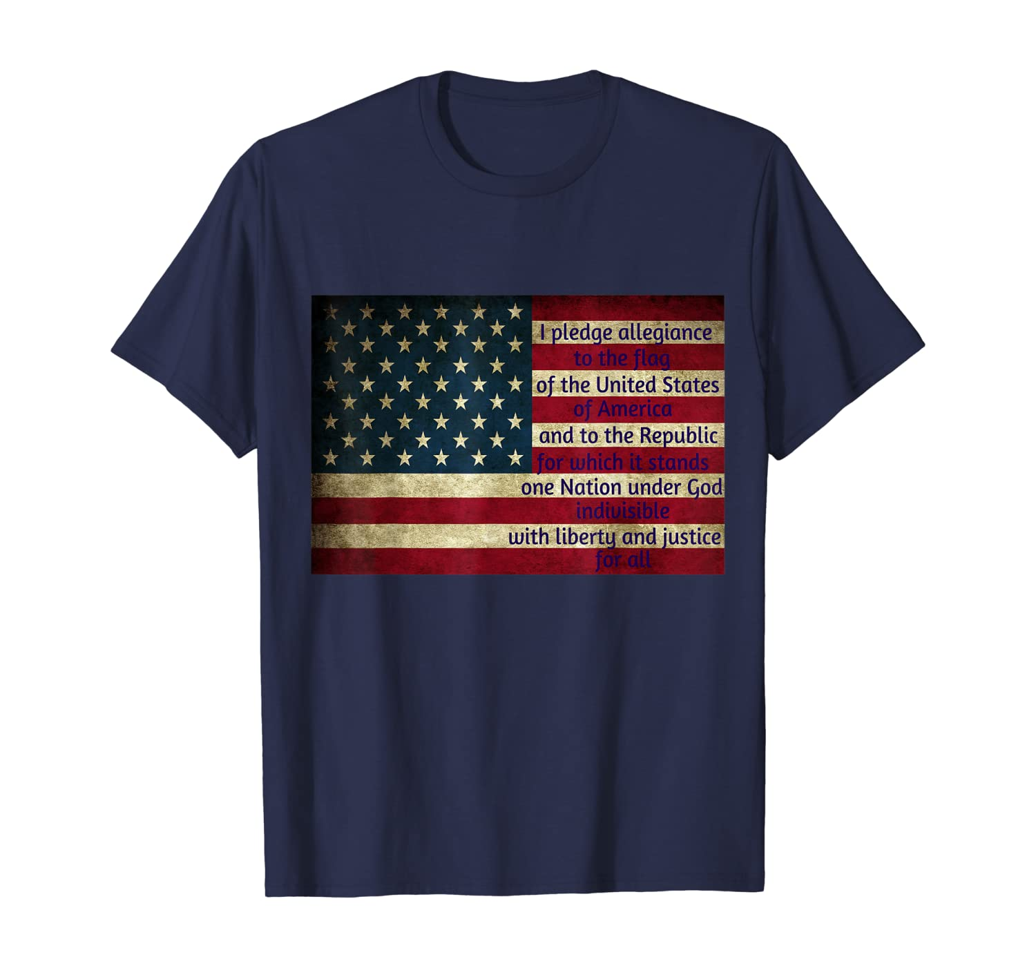 Stand For The Flag Pledge Of Allegiance Patriotic Tshirt